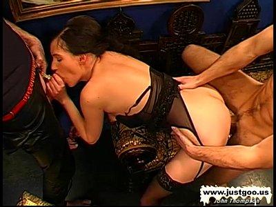 Horny Dancers Gather Around to Taste Some Fresh Cum
