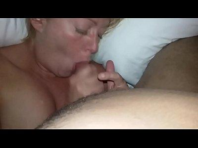 White cougar sucks thick Dominican dick