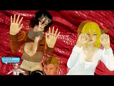 Attack on Titan Mikasa has sex