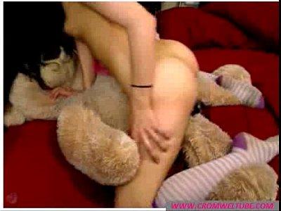 Brunette Amateur Bitch Plays with Toys