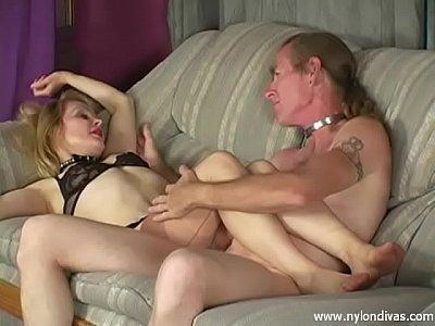 Stockings, licking, Blonde, Nylon, Kissing, Feet #27896513