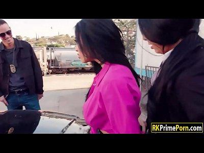 Latina cop and her partner fucks hooker