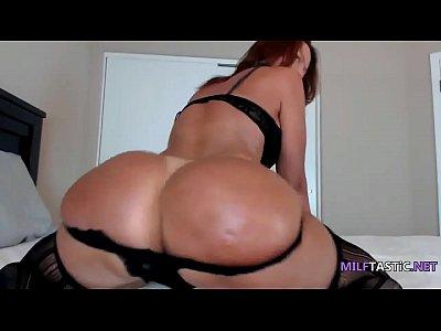 Super hot milf wearing bitchy lingerie twerks on bed