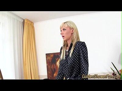 Strange lesbos pissing