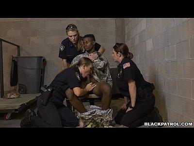 Black, Interracial, Redhead, Threesome, Uniform, Big Tits, Big Ass, Police