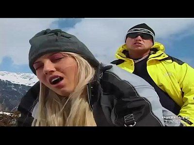 Sharon Bright Fucks on the Snow