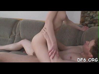 Lucky male enjoys pain & joy of his innocent girlfriend