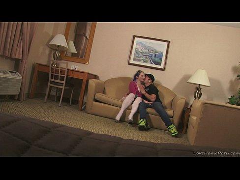 Wild hardcore homemade couple's hot sex tape