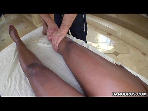 Black Girl Turned on by Massage