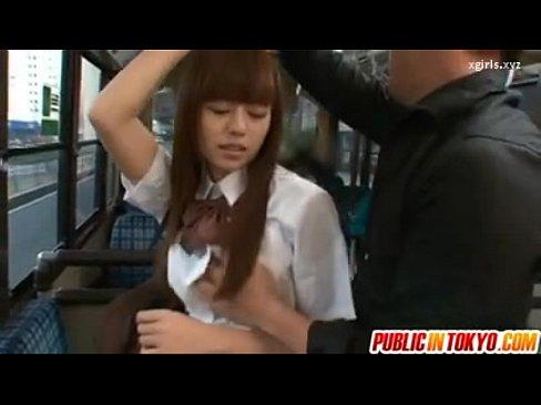 とってもかわいいギャル系JKがバスの中で痴漢からのレイプ  素人