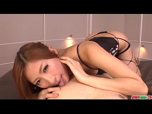 Reira Aisaki provides excellent blowjob in hot POV - More at Japanesemamas.com