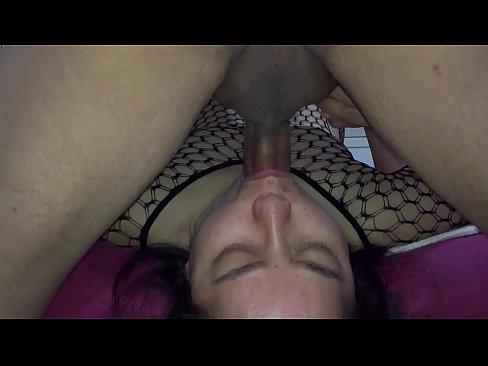 Asian MILF - Throat Fucking With Black Body Stocking