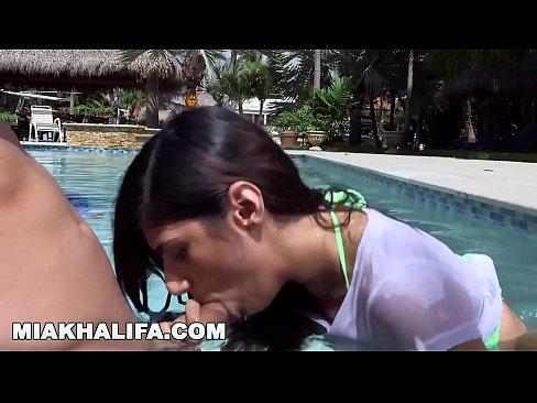 MIA KHALIFA - Big Tits Arab Pornstar Fucks Sean Lawless Poolside