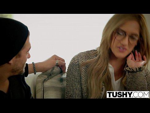 TUSHY Chloe Amour Tries Double Penetration