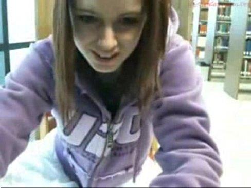 Teen masturbate in library amateur