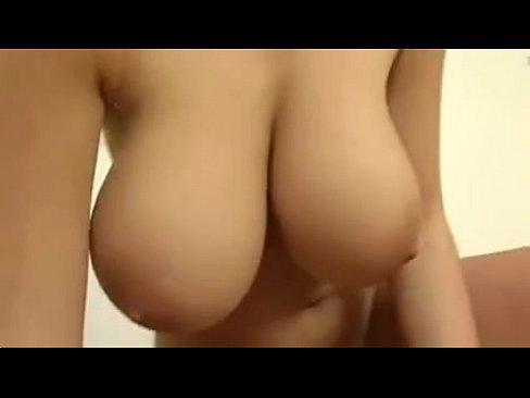 big natural boob babe gets it