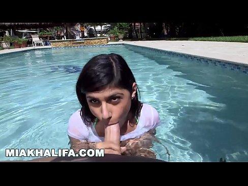 Mia Khalifa's Wet Big Tits Getting Fucked By The Pool (mk13785)
