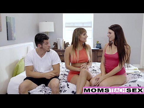 MomsTeachSex - Mom Fucks Step Son & GF To Keep Secret