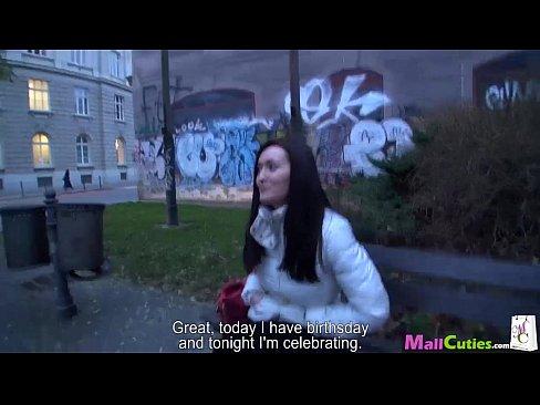 MallCuties Teen amateur girl with big boobs fucks on public