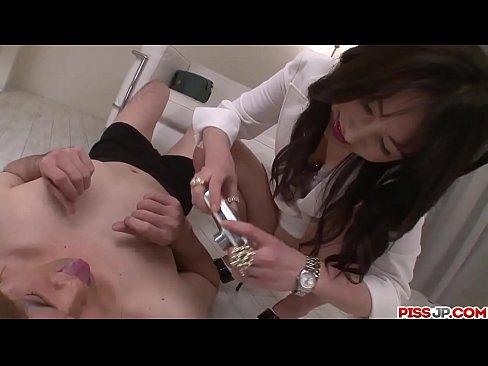 Curvy ass nurse Ayumi Iwasa sensual porn with patient - More at Pissjp.com