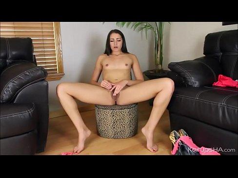 Hairy Pussy Avi Love Masturbates With Dildo