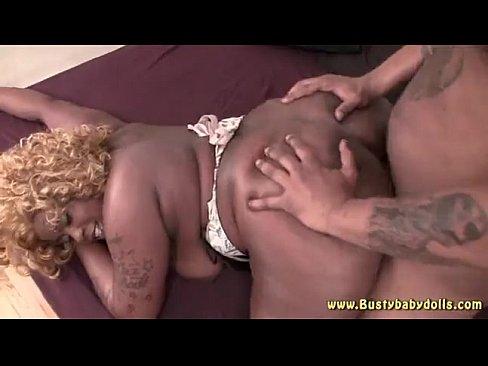 Lovely Blonde Ebony BBW Takes Dick Nicely
