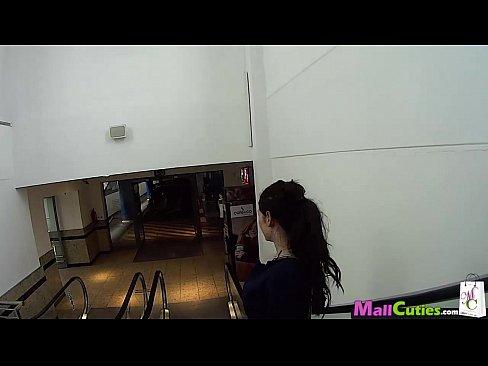 MallCuties - Amateur girl sucks a stranger in a shop