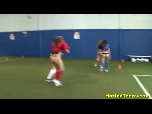 Lesbian College Sorority Students Practice Naked Fucked Up Football