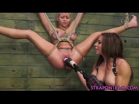 Suspended lesbian slave