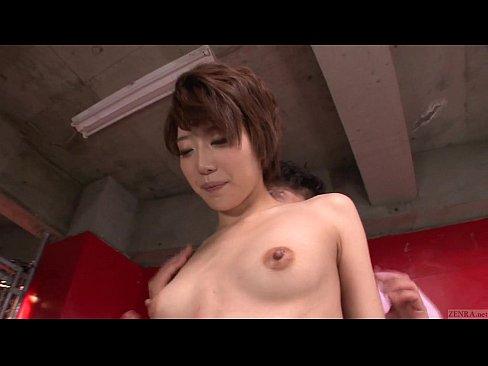 Subtitled uncensored Japanese AV star Makoto Yuuki foreplay