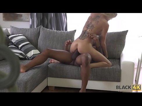 BLACK4K. Stunning maid knows her job