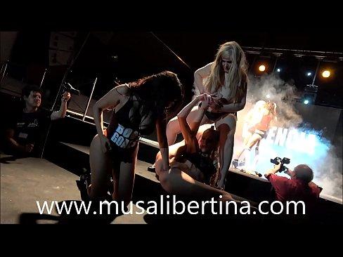 Lesbian fisting orgy on stage Musa Libertina, Yelena Vera, Kesha y Sheila Ortega 10 min HD+