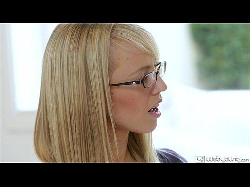 Blonde hottie Sierra Nevadah giving POV ball licking blowjob  43755