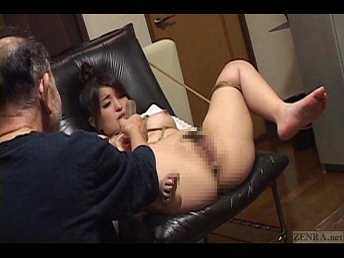 Subtitled bizarre Japanese BDSM anal play with enema