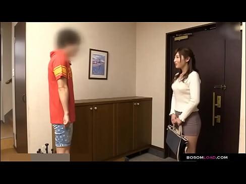 Retard son wants to fuck Japanese babysitter