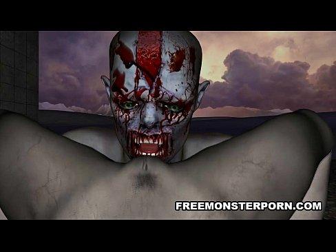 Foxy 3D cartoon zombie babe gets licked and fucked 5 min HD