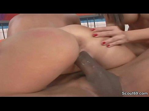 Two Hot MILFs seduce Mandingo Black Dick to Fuck her