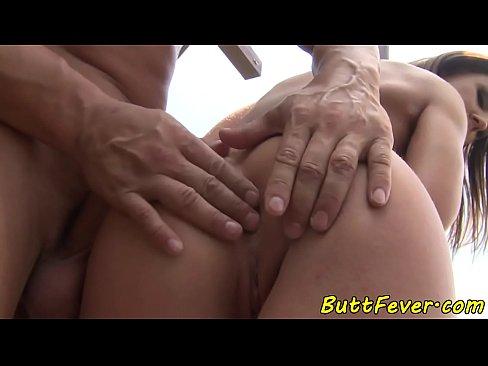 Dicksucking babe anally banged