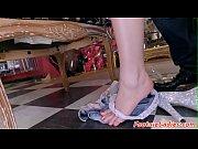 European babe footworshiped