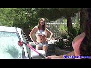thumb busty lesbian carwash fun with kiara mia