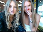 two sexy blonde sisters gonna naked in public.