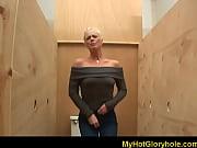 gloryhole blowjob - horny babe sucking.