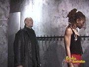 slim ebony dominatrix pleasures a horny dude in.