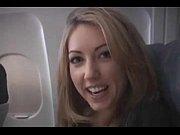 sarah peachez - airplane blowjob