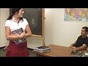 Busty schoolgirl gets covered with semen