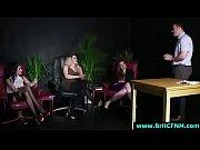British femdom babes strip and suck amateur CFNM guy