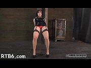 Hoisted girl waits lustily