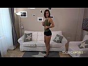 thumb petite brunette spreads her long legs for some vibrator fun   6   ta