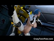 thumb 3d Giant Rob ot Destroys Space Girl