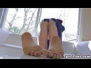 Wanking tgirl arches her gorgeous feet Thumbnail